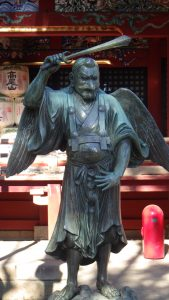 Tengu in front of Izuna Gongen-do
