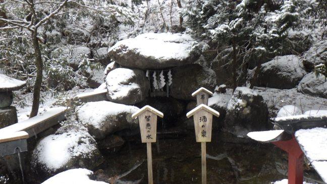 Sacred spring in Futarasan Jinja