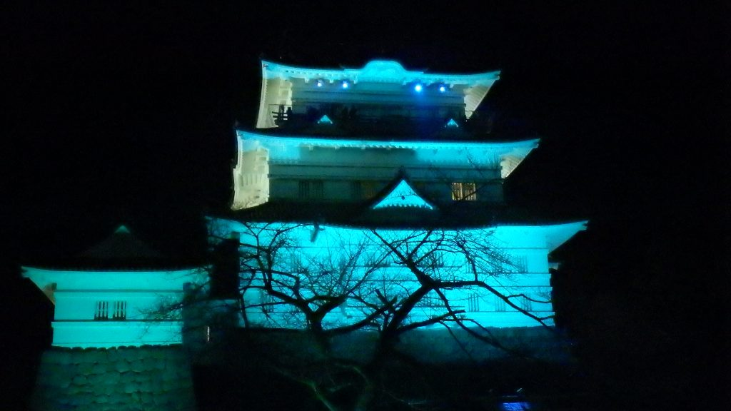 Light show at Odawara Castle