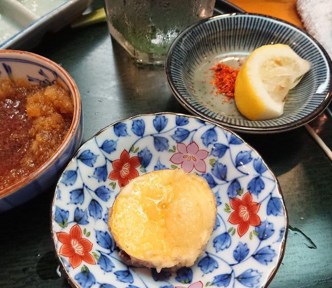 Sweet potato tempura with Remy Martin VSOP