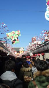 Crowds in Nakamise-dōri