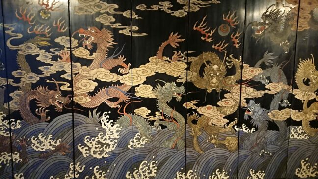 Decorative dragon panel